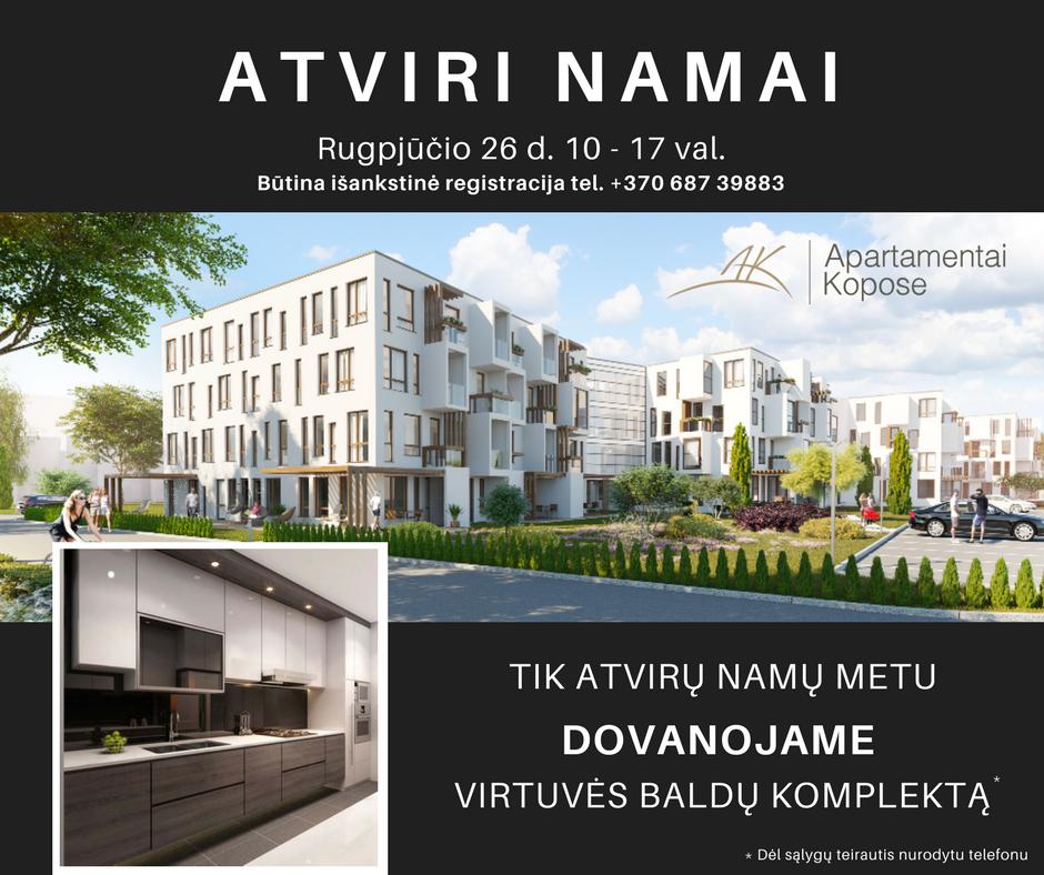 Atviri namai Apartamentai kopose prie juros