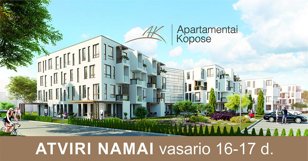 """Atviri namai """"Apartamentai kopose"""" vasario 16 ir 17 d."""